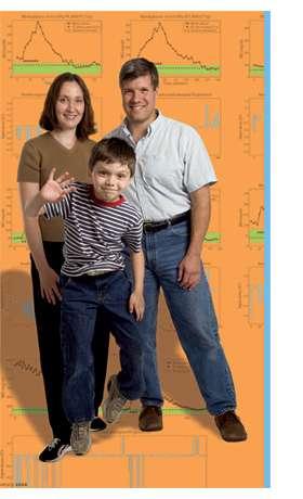 Edward Damiano avait une motivation personnelle pour se lancer dans cette étude. Son fils, David, au premier plan (un peu moins de 7 ans sur la photo, prise en 2006), vit avec un diabète de type 1 depuis l'âge de un an. Le chercheur travaille depuis avec sa femme, Toby Milgrome, une pédiatre, ici à gauche. © Boston University