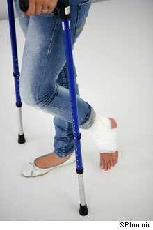 Les entorses de la cheville peuvent parfois être sérieuses et doivent être prises en charge. © Phovoir