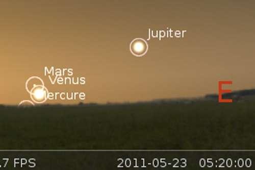 Vénus en rapprochement avec Mars
