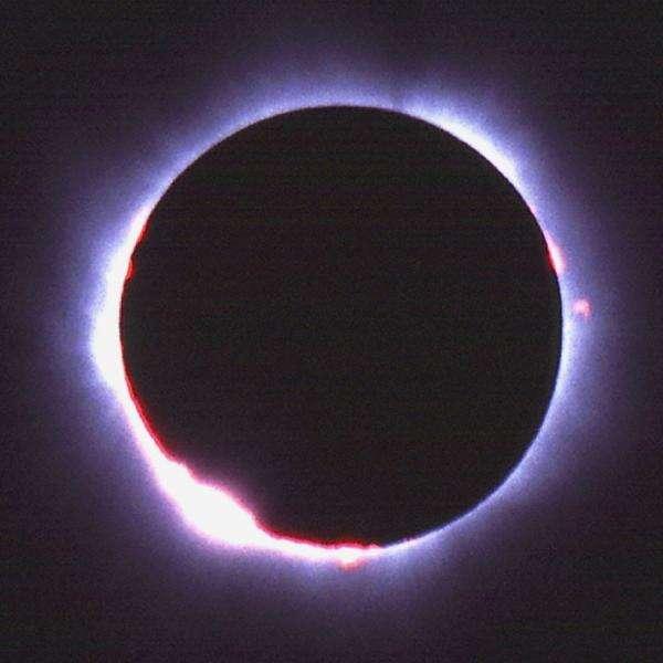 Une éclipse totale. Crédit : iStockphoto/Bjorn Kindler)