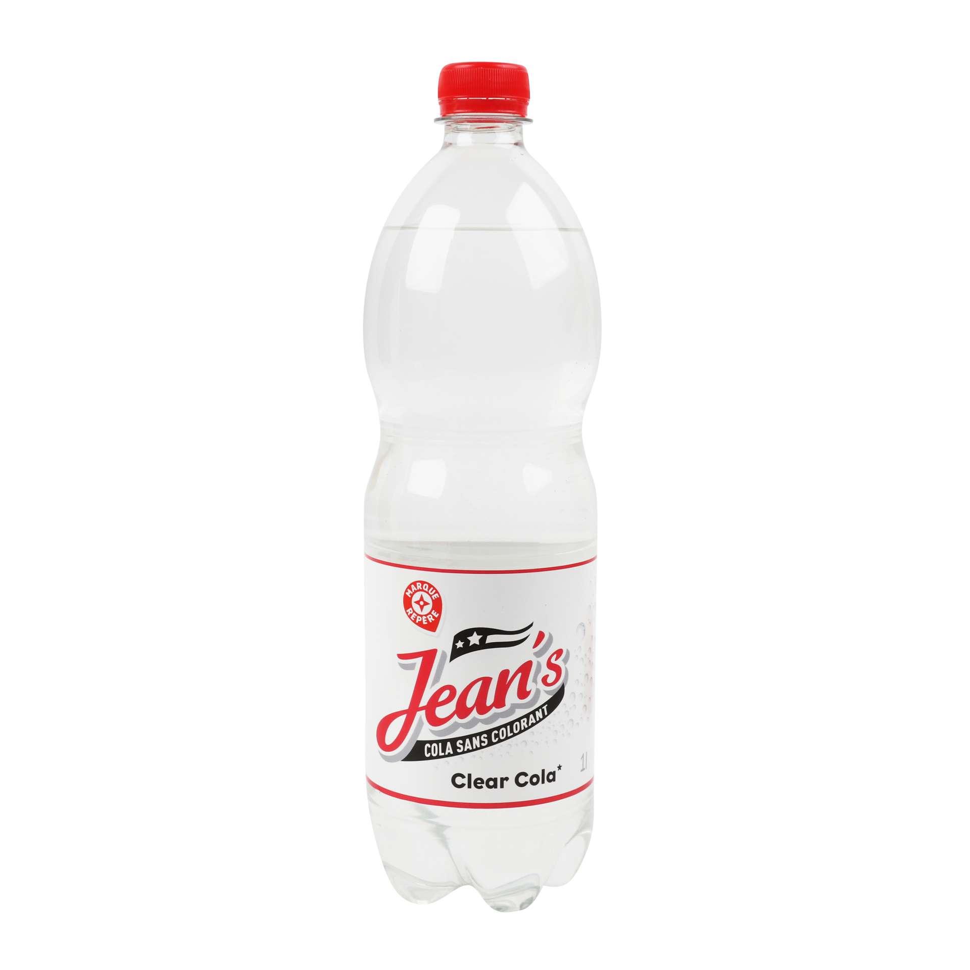 E.Leclerc a lancé le Jean's Cola, un cola transparent sans additif. © All Rights Reserved