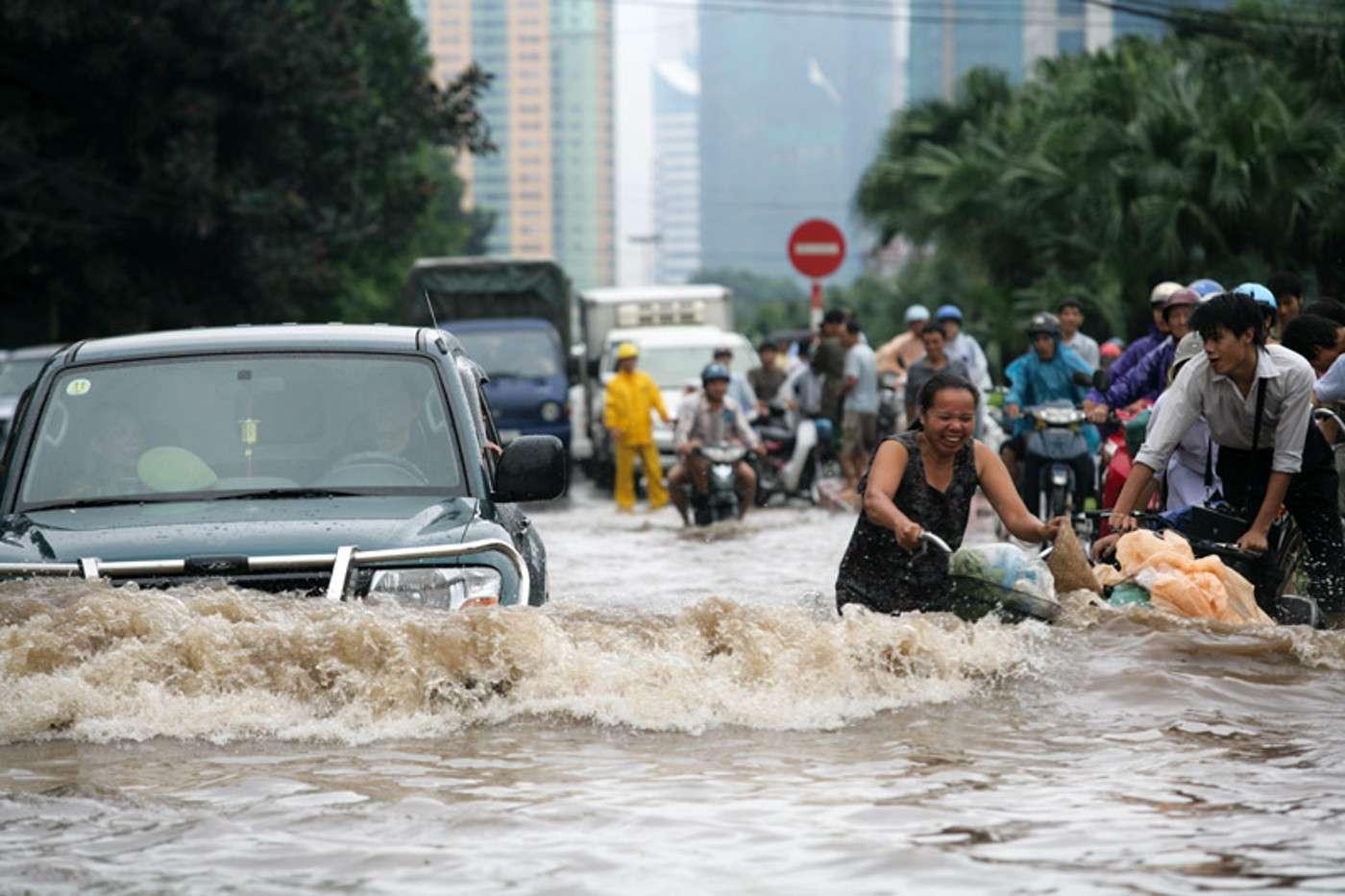 Les inondations ont été nombreuses ces dernières années, surtout en Asie. Celle survenue en 2008, au Vietnam, avait fait une centaine de morts. © haithanh, Wikimedia Commons, CC by 2.0