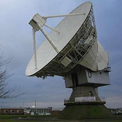 L'antenne de 25 mètres du Chilbolton Observatory au Rutherford Appleton Laboratory