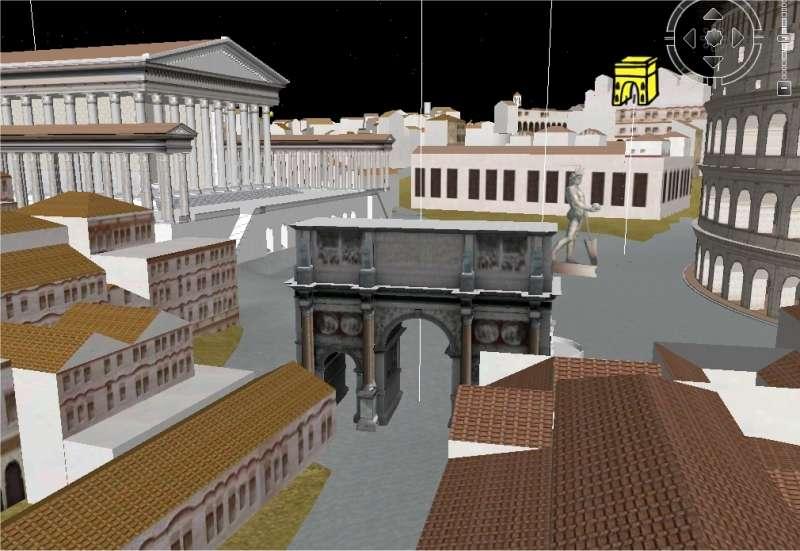 A côté du Colisée, une belle vue sur la colossale statue de Hélios...