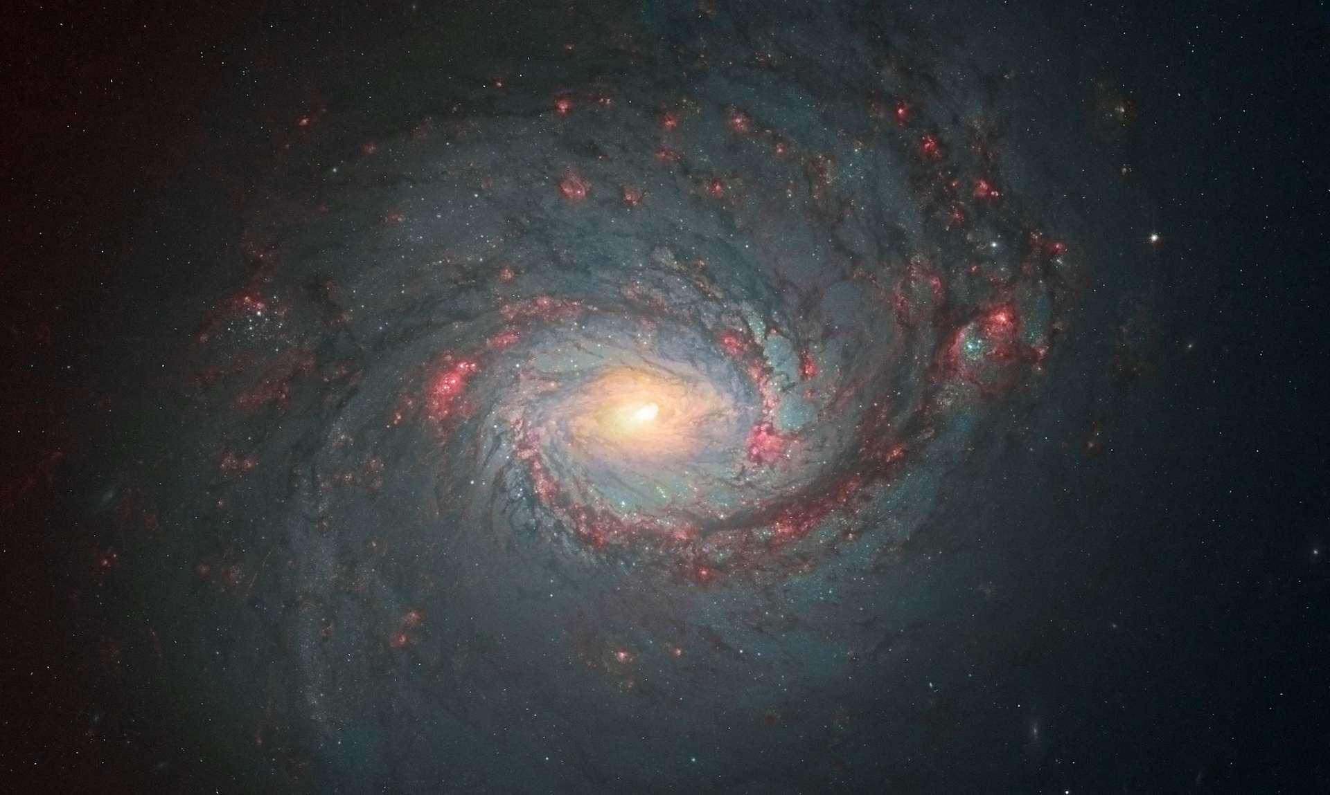 Les galaxies spirales comme M77, ici photographiée par Hubble, doivent leur forme particulière à deux champs magnétiques. © Nasa, ESA, the Hubble Heritage (STScI/AURA)-ESA/Hubble Collaboration)