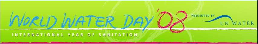 Une journée pour sensibiliser l'opinion au problème de l'eau (logo officiel)