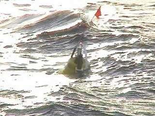 Le capteur de pression remonté à la surface après 1 an passé au fond de l'océan