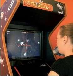 Pour illustrer l'efficacité de son application Gaze, Tobii a développé un jeu d'arcade qui se contrôle uniquement avec les yeux. ©Tobii