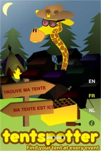 Le site de La Mosca présente TentSpotter, une application sans prétention pour se repérer dans les campings...