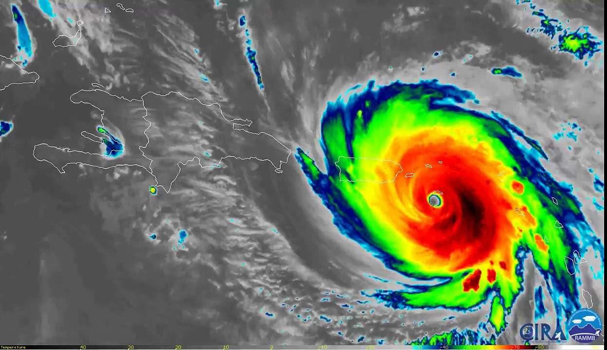L'ouragan Maria observé en infrarouge