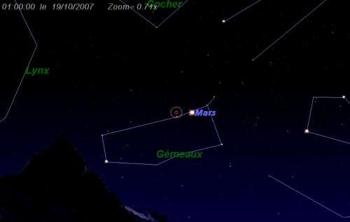 Maximum de l'essaim des météores des Epsilon-Géminides
