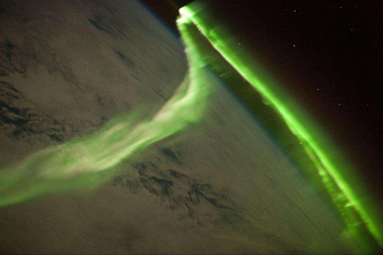 L'aurore polaire du 29 mai 2010 photographiée par les membres de l'ISS. Crédit ISS Expedition 23 Crew / Isal / Nasa