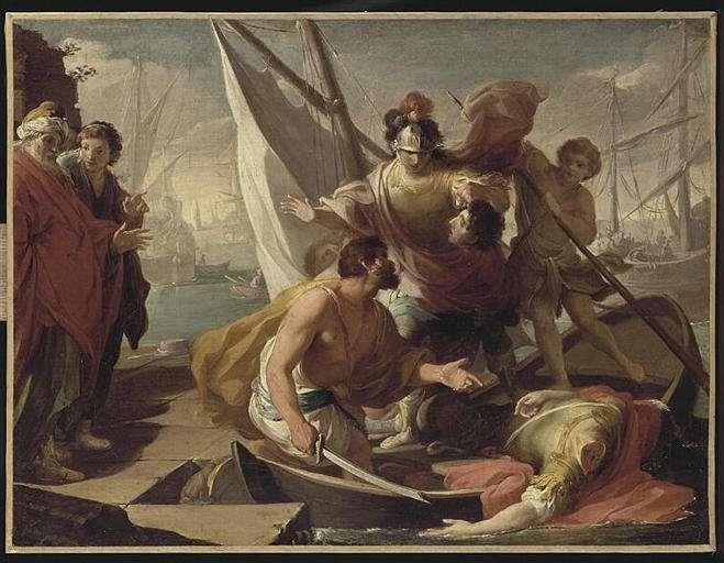 L'assassinat de Pompée sur les plages égyptiennes. Cet événement est l'ultime rebondissement de la rivalité entre Pompée et César. © Wikimedia Commons, DP