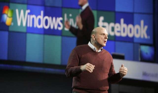 Steve Ballmer, PDG de Microsoft, a pour la première fois remplacé Bill Gates au CES de Las Vegas. Son annonce principale : le lancement de la version test de Windows 7. Crédits : DR