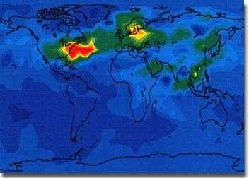 Modélisation de l'impact des avions sur l'ozone modèle global - Onera