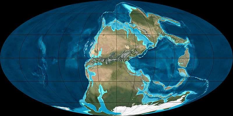 La formation de la Pangée, un supercontinent, s'est achevée durant le Permien supérieur. Cette carte montre la disposition des masses continentales quelques dizaines de millions d'années plus tôt, au Permien inférieur (voici 280 millions d'années). © Ron Blakey, NAU Geology, Wikimedia Commons, cc by sa 3.0