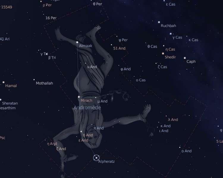 La constellation d'Andromède. Crédits DR