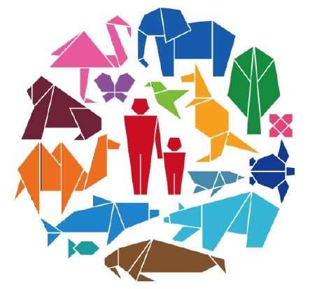 La dixième réunion de la conférence des Parties, COP 10, vient de s'ouvrir pour tenter de ralentir l'extinction des espèces vivantes observées aujourd'hui. Son logo place l'homme au centre. © Conférence des Parties