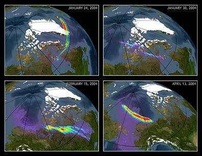 Les images faites des aurores à partir des données de Chandra