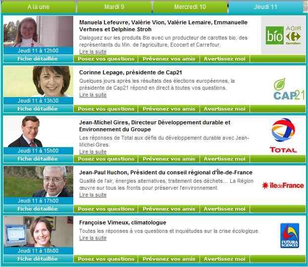 Des spécialistes à votre disposition pour répondre à vos questions sur le développement durable.