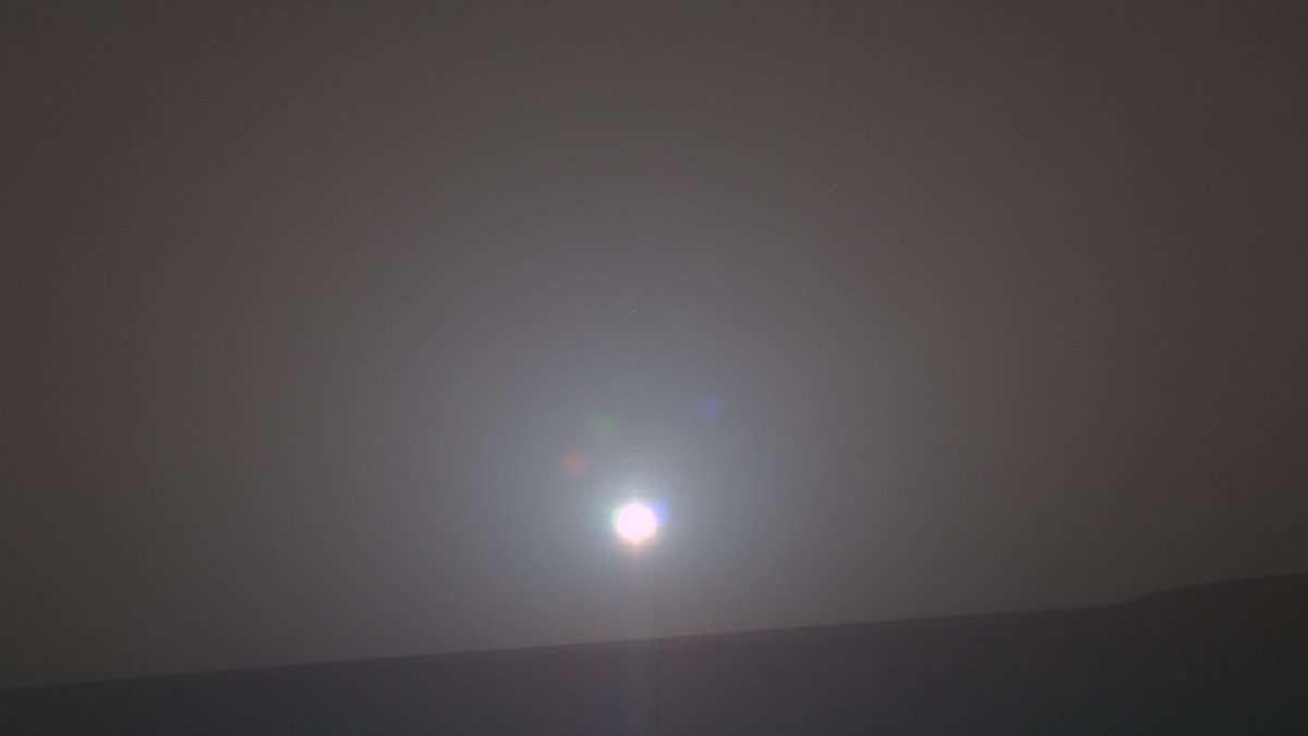 Voici l'image du 5.000ème lever de Soleil sur Mars prise par Opportunity, à partir de laquelle des chercheurs ont créé un morceau de musique. © Anglia Ruskin University
