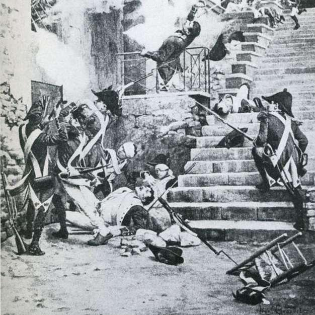 Les guerres de Vendée opposant les insurgés vendéens aux forces du gouvernement révolutionnaire ont été très meurtrières. © L. Girardet, Wikimedia Commons, DP