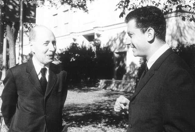 Le physicien Eugene Wigner (à gauche) et le chimiste Istvan Hargittai (à droite) © Eszter Hargittai CC by-nc-sa 2.0