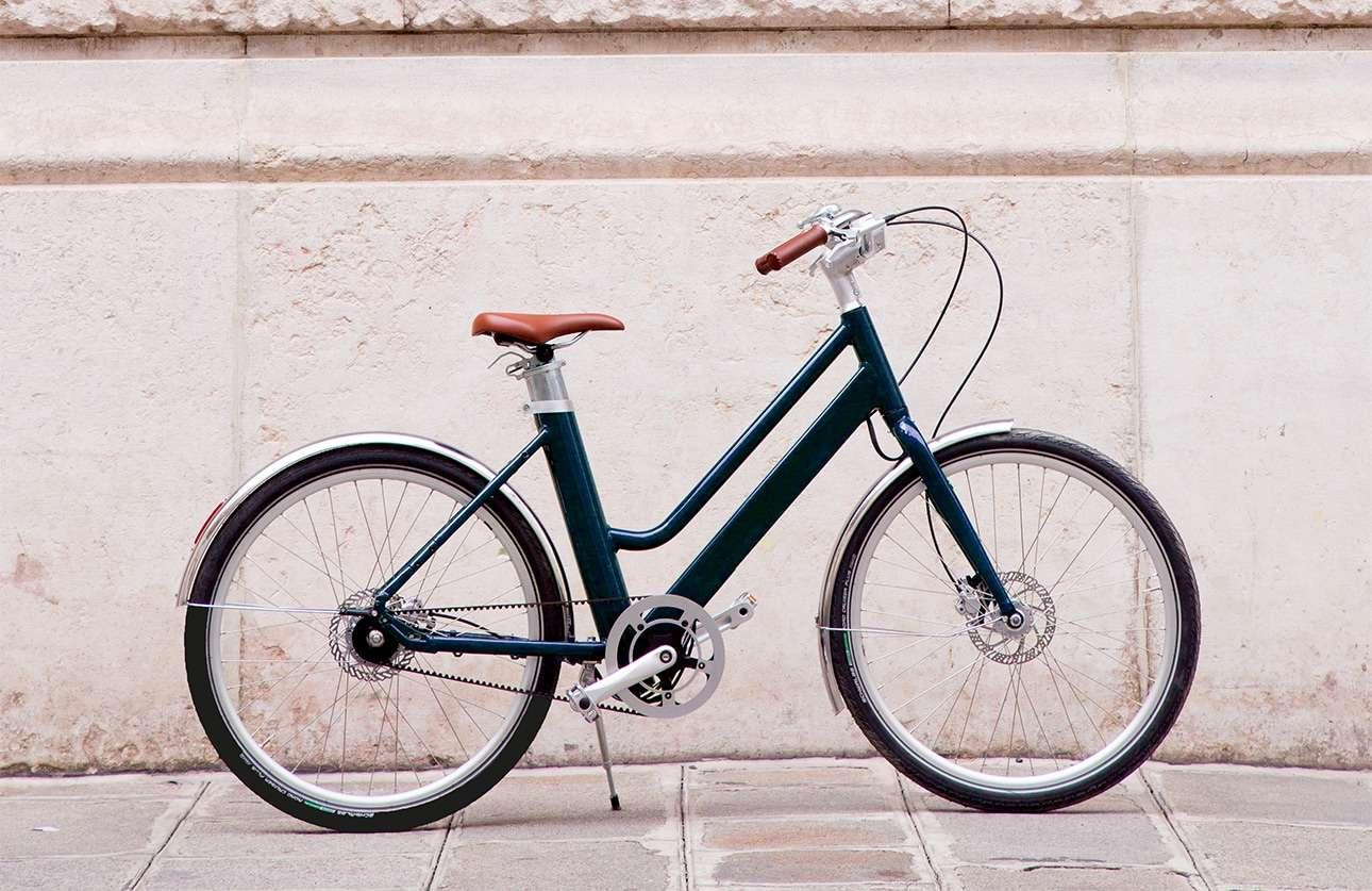 Le vélo électrique Voltaire mise sur un design très classique. © Voltaire