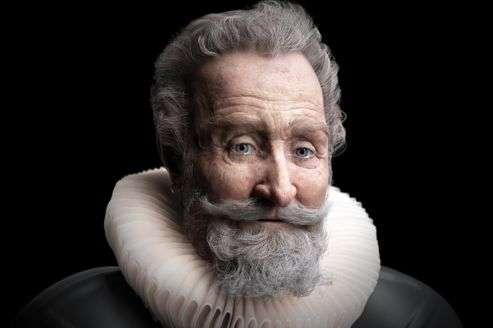 Le visage d'Henri IV, reconstitué d'après l'analyse du crâne récemment retrouvé. © Philippe Froesch, Visualforensic, Librairie Vuibert