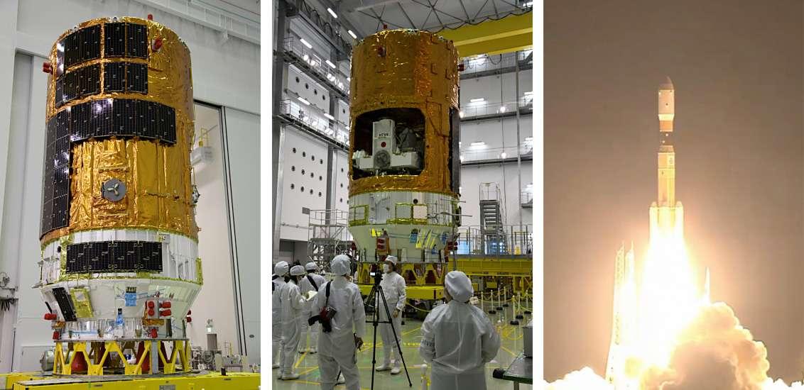 Quatrième lancement réussi d'un cargo spatial HTV après ceux de septembre 2009, janvier 2011 et juillet 2012. © Jaxa, Nasa TV