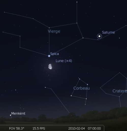 La Lune est en rapprochement avec l'étoile Spica