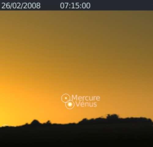 La planète Mercure est en rapprochement avec la planète Vénus