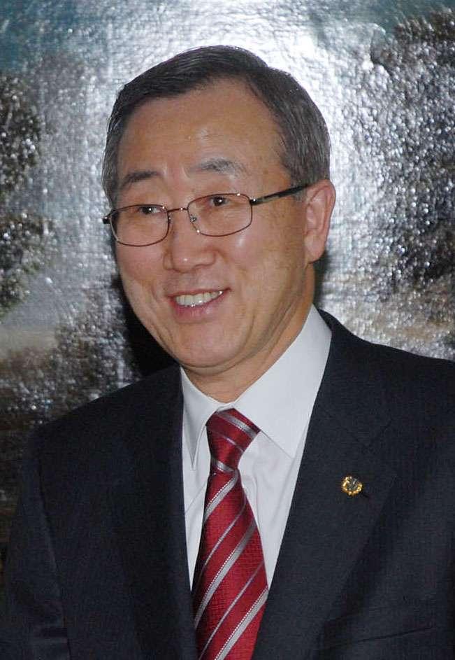Le secrétaire général de l'ONU Ban Ki-moon. Source Commons