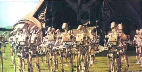 Des droïdes de combat de la saga Star Wars. © Lucasfilm