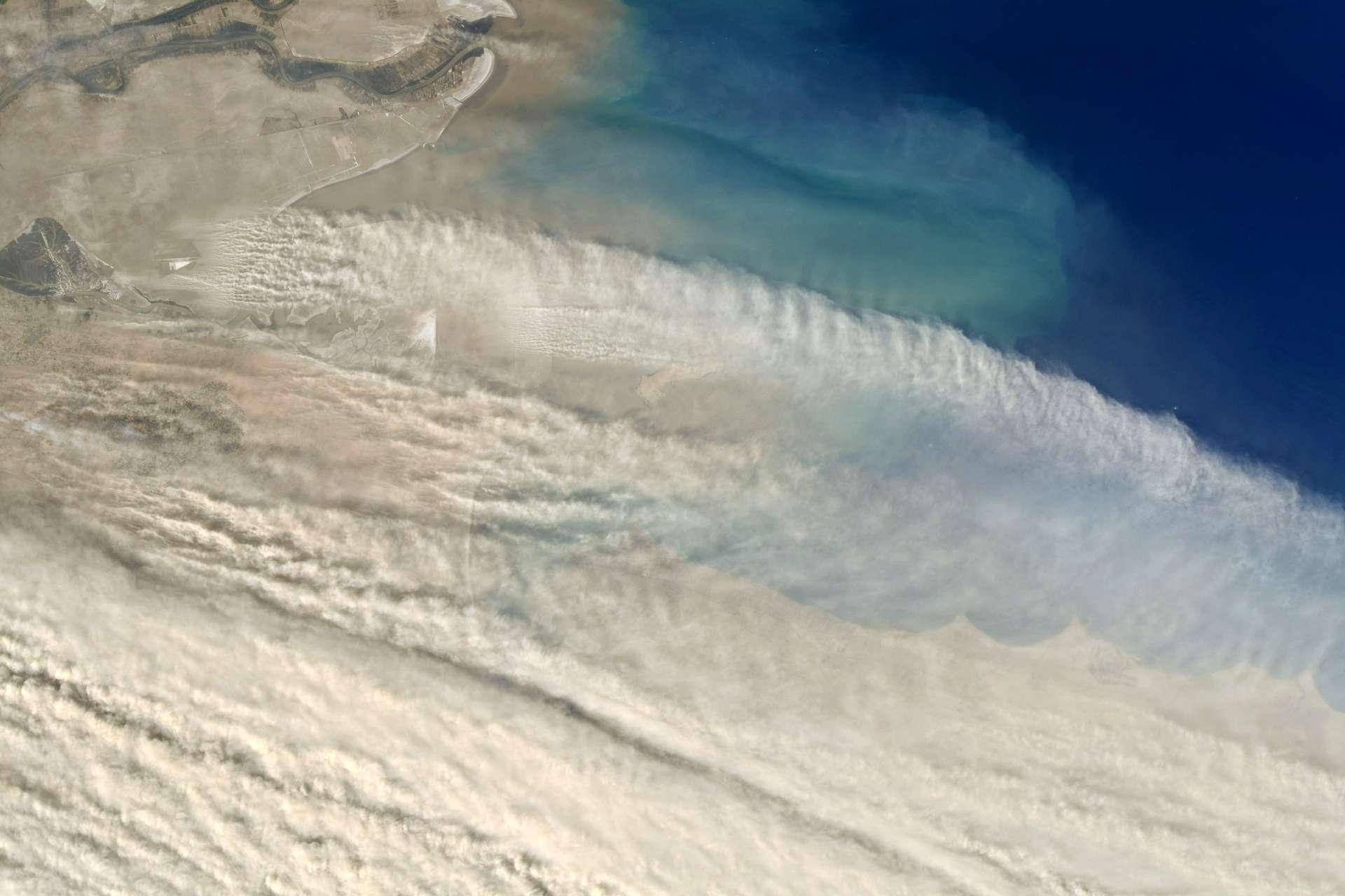 Une immense tempête de sable, photographiée par Thomas Pesquet, en 2021. © Esa/Nasa, T. Pesquet