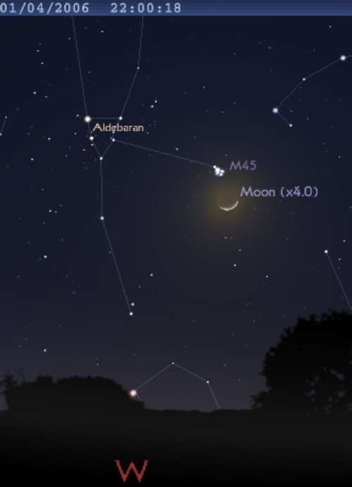 La Lune est en conjonction avec les Pléiades