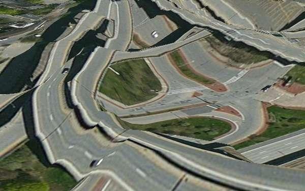 Outre les itinéraires fantaisistes, l'application Maps d'Apple (aussi appelée Plans) s'est notamment distinguée par des rendus de paysages hasardeux. © mmcmaxi, Flickr, cc by sa 2.0