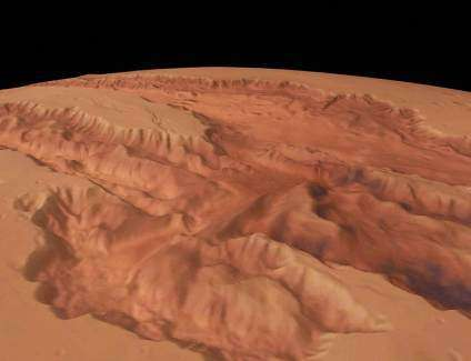 Mars vu par World Wind (Crédits : NASA)