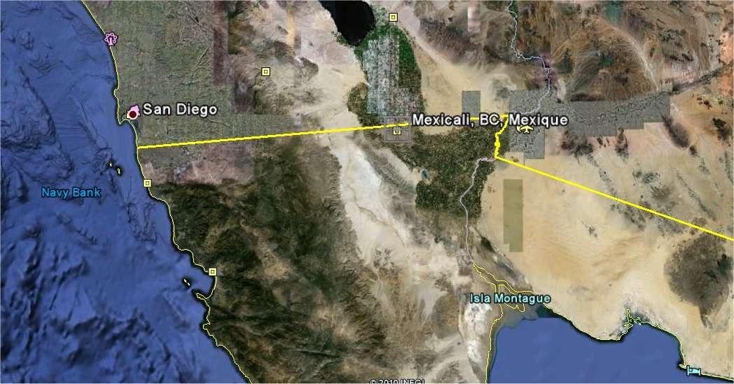 L'épicentre est situé au sud-est de la ville de Mexicali.