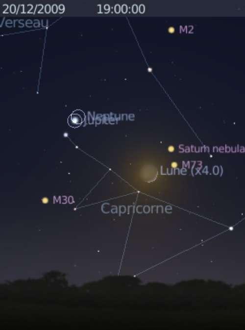 La Lune est en rapprochement avec l'amas globulaire M73