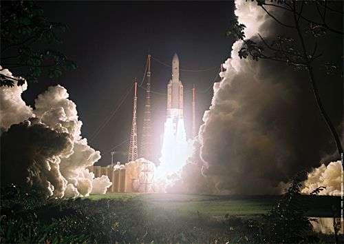 Lancement d'Ariane 5 (image d'archives). Crédit Arianespace.