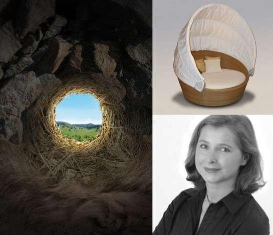 """Elizabeth Leriche (Cabinet Elizabeth Leriche) a développé l'""""Archaic Shelter"""" en s'inspirant du désir de protection propre à l'aube de l'humanité, crédits DR."""