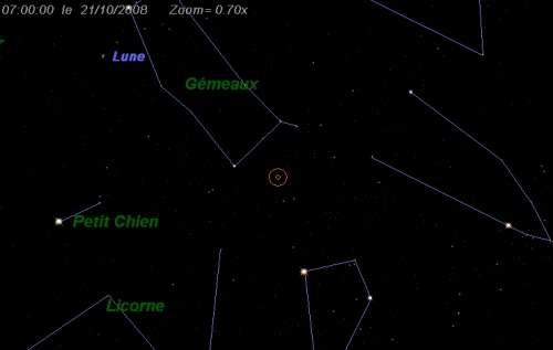 Maximum de l'essaim météoritique des Orionides