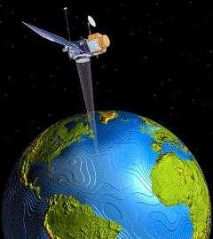 L'altimétrie est une mesure réalisée par un satellite. © educnet.education.fr