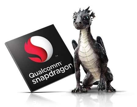 Avec ses system on a chip Snapdragon, le fondeur américain Qualcomm domine le marché des smartphones et tablettes. Ses deux nouvelles puces Snapdragon 810 (huit cœurs) et 808 (six cœurs) adoptent une architecture 64 bits et sont gravées avec une finesse de 20 nm. Les premiers terminaux équipés de ces SoC arriveront à partir de l'année prochaine. © Qualcomm