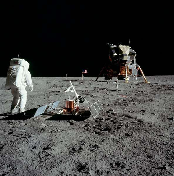 La mission Apollo 11 sur la Lune - Crédits NASA