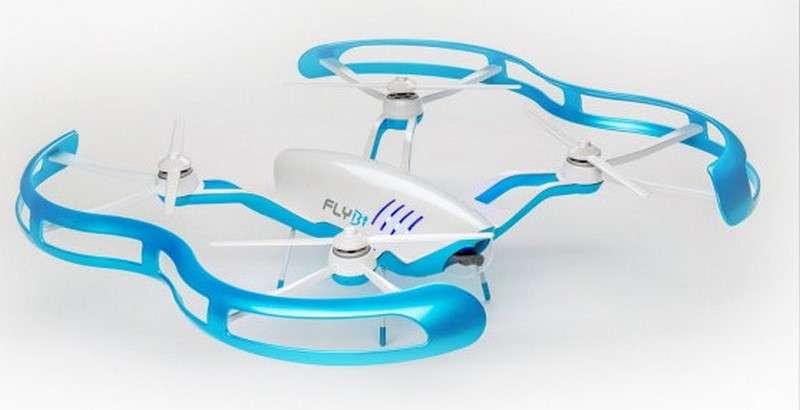 Le FLYBi est un drone qui promet beaucoup : pilotage immersif grâce à des lunettes de réalité augmentée, détection automatique des obstacles, système autonome de remplacement de la batterie… Mais il ne s'agit pour le moment que d'un projet qui doit encore trouver son financement pour aboutir. © Advance Robotix Corporation
