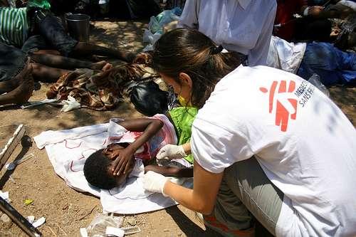 L'aide humanitaire est toujours très présente en Haïti, où le choléra continue de se répandre. © Médecins sans frontières, Flickr, CC by-nc-sa 2.0