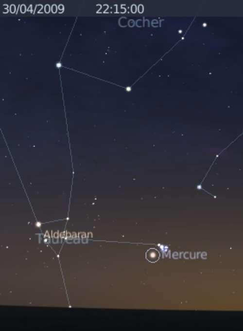 La planète Mercure est en rapprochement avec l'amas des Pléiades