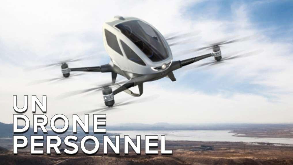 Ehang 184 : ce drone taxi vous emmène partout en un clin d'œil